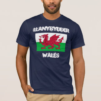 Llanybydder, Wales with Welsh flag T-Shirt