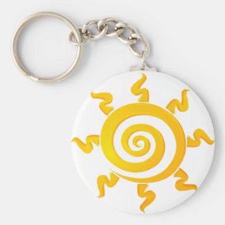 Llavesun Basic Round Button Keychain