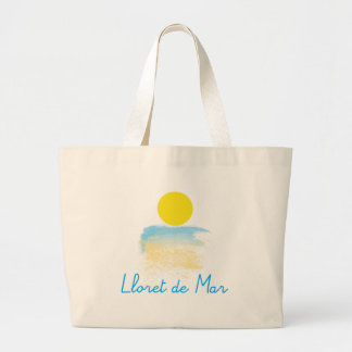 Lloret de Mar beach & sun Large Tote Bag