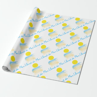 Lloret de Mar beach & sun Wrapping Paper