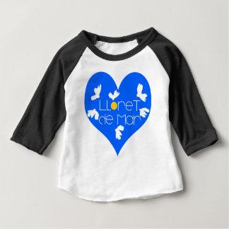Lloret de Mar souvenir blue heart. Baby T-Shirt