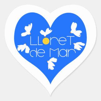 Lloret de Mar souvenir blue heart. Heart Sticker