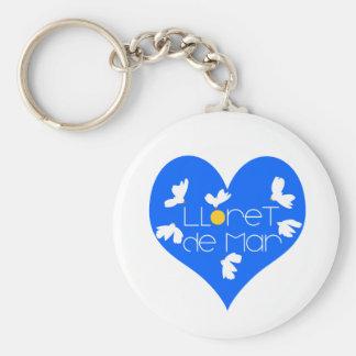 Lloret de Mar souvenir blue heart. Keychain