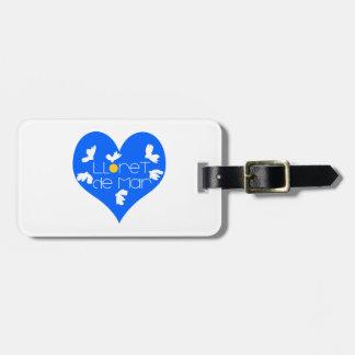 Lloret de Mar souvenir blue heart. Luggage Tag