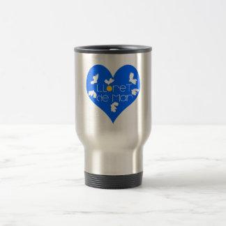 Lloret de Mar souvenir blue heart. Travel Mug