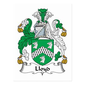 Lloyd Family Crest Postcard