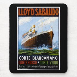 Lloyd Sabaudo Vintage Ocean Liner Advertisement Mousepad