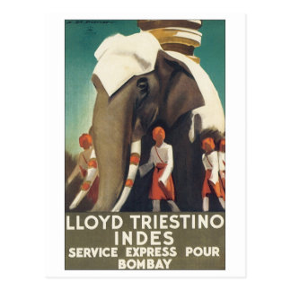 LLoyd Triestino Indes Service Express Pour Bombay Postcard