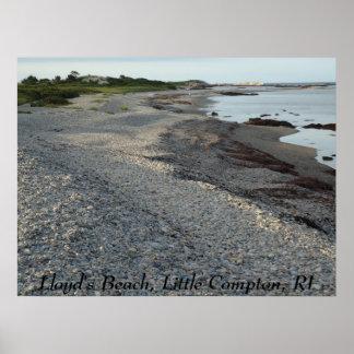 Lloyd's Beach, Little Compton, RI Poster
