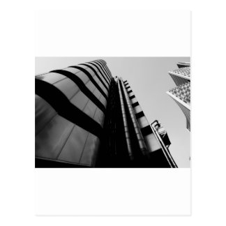 lloyds building black and white postcard