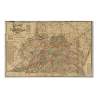 Lloyd's official map of the State of Virginia Poster