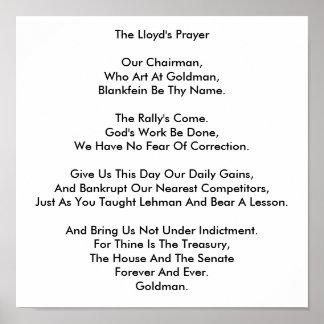 Lloyd's Prayer Poster