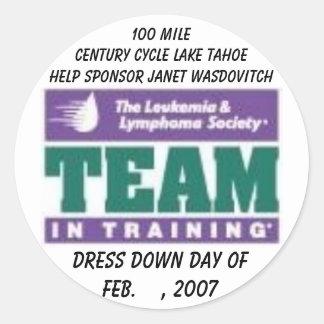 LLS TNT, Dress Down Day ofFeb.    , 2007, 100 M... Classic Round Sticker