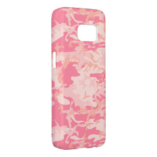 !llustration of camouflage in pink samsung galaxy s7 case