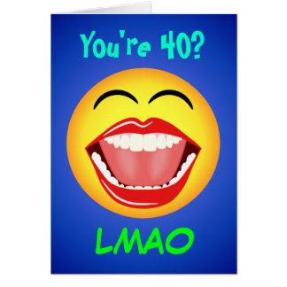 LMAO Smiley Customizable Age Birthday Card