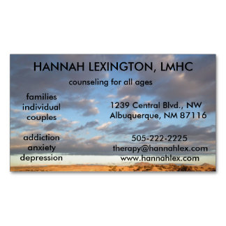 LMHC Counselor Magnet, advertising networking Business Card Magnet