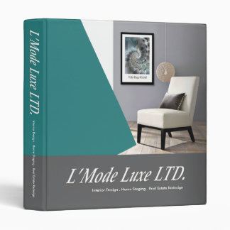 L'Mode Luxe Home Stager Interior Designer 3 Ring Binder