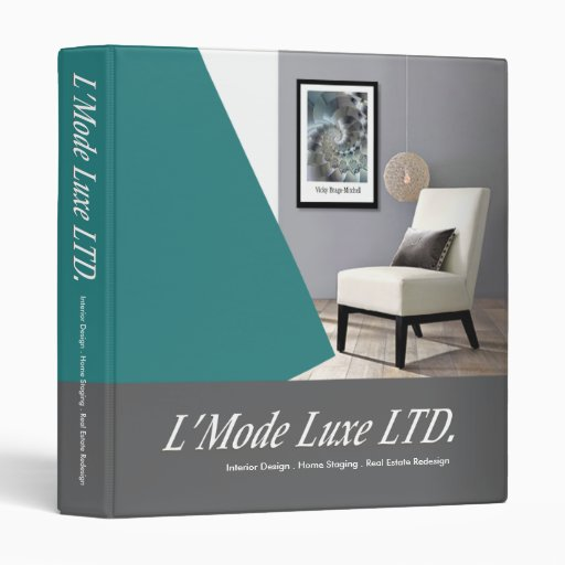 L'Mode Luxe Home Stager Interior Designer 3 Ring Binders