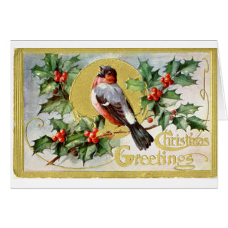 LMU Library Christmas Bird Greeting Card