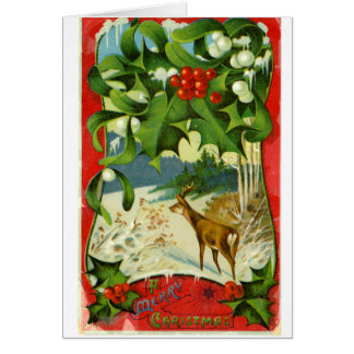 LMU Library Christmas Deer Greeting Card