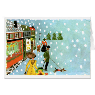 LMU Library Christmas Scene Greeting Card