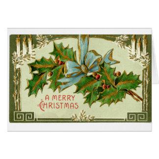 LMU Library Holly Christmas Card