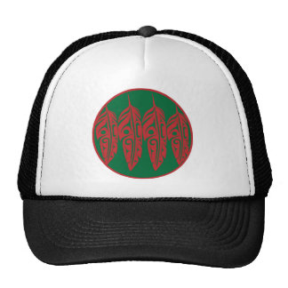 LNeel-Four-Feathers-Red-Green Trucker Hat