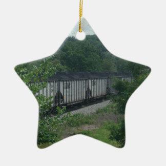Loaded Coal Train Ceramic Ornament