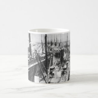 Loaded transports moving out into_War Image Coffee Mug