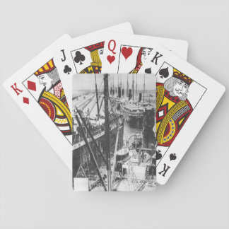 Loaded transports moving out into_War Image Poker Deck