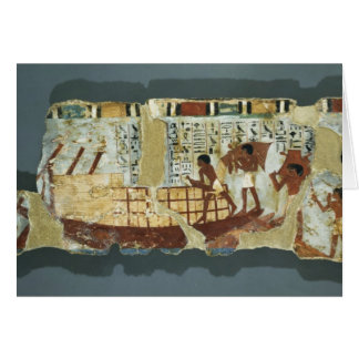 Loading grain, from the Tomb of Unsou, East Card