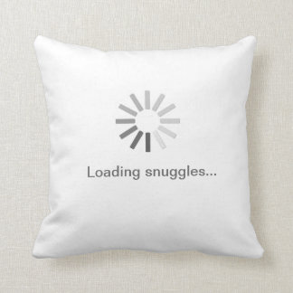 """Loading snuggles"" symbol pillow"