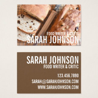Loaf of Bread Baking Bakery Pastry Chef Food Blog Business Card