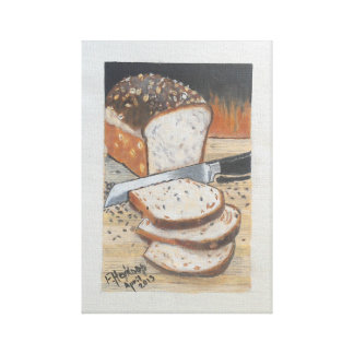 Loaf of bread canvas print