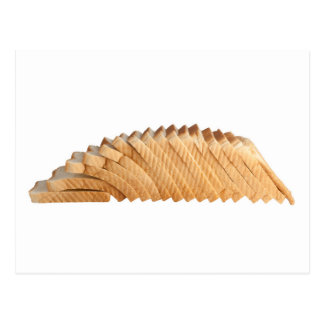 Loaf of sliced bread postcard