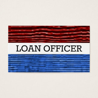 Loan Officer Patriotic Business Card