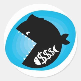 Loan shark classic round sticker