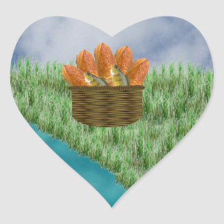 Loaves and Fishes Heart Sticker