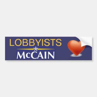 Lobbyists Heart McCain Bumper Sticker