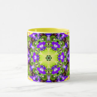 ~ Lobelia and Pansies Fractal ~ Mug