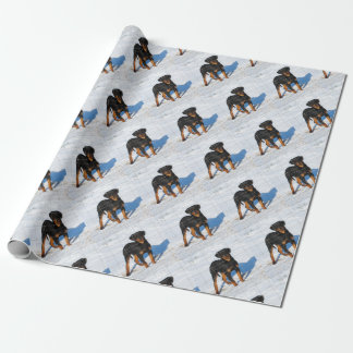 Lobo Rottweiler Wrapping Paper