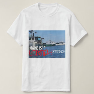 LOBSTAH STRONG,MAINE LOBSTER BOAT PHOTO ON SHIRT !