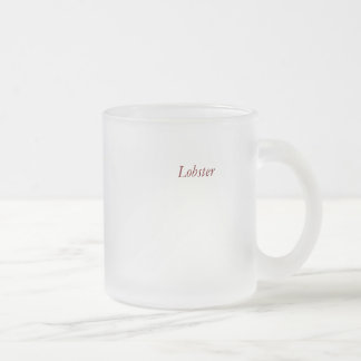 Lobster 10 Oz Frosted Glass Coffee Mug