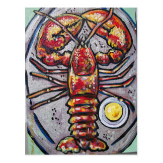 LOBSTER AND BUTTER POSTCARD
