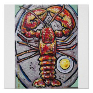 lobster and butter poster