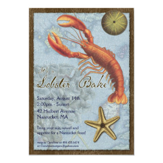 Lobster Bake - Beach Party - At the Shore Card