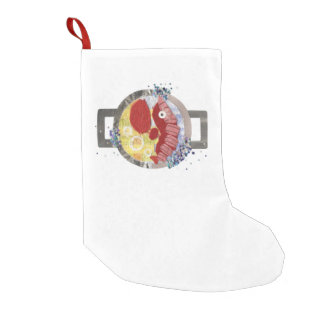 Lobster Beach Stocking Small Christmas Stocking