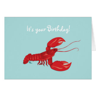 Lobster Birthday Card