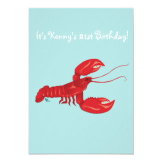 Lobster Birthday Party Invitation