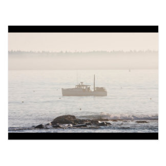 Lobster Boat Off Mount Desert Island Maine Postcard